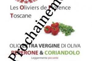 Huile d'olive poivron & coriandre