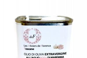 Huile d'olive à l'ail rose de Maremme